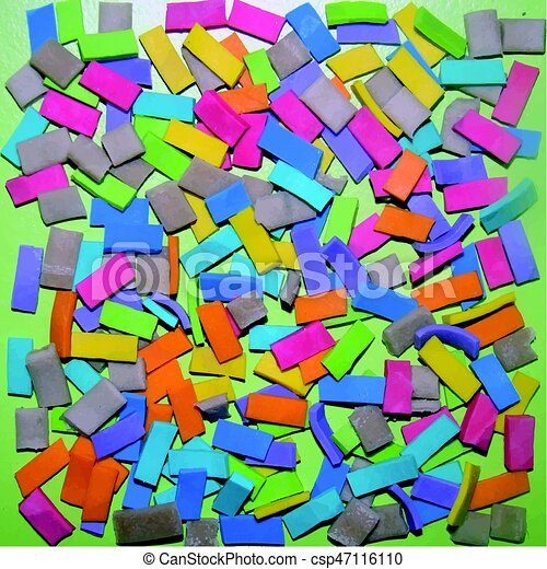 Background of Colored Rubber - csp47116110