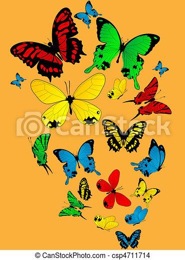Dessin de couleur papillons color papillons croquis sur a csp4711714 recherchez des - Papillon dessin couleur ...