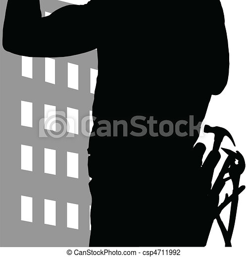 construction worker wearning tool - csp4711992