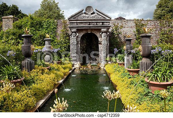 garden flower pond ornamental - csp4712359