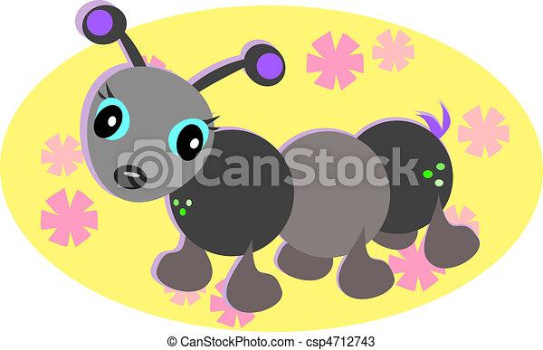 Cute Ant Logo Cute Ant Retro Style