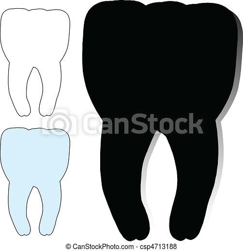dentist vector silhouettes - csp4713188