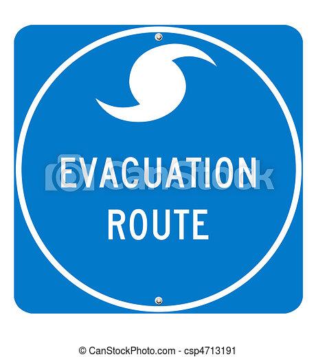 Hurricane Evacuation Route Sign - csp4713191