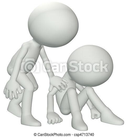 Friends sympathy for sadness depression loss - csp4713740