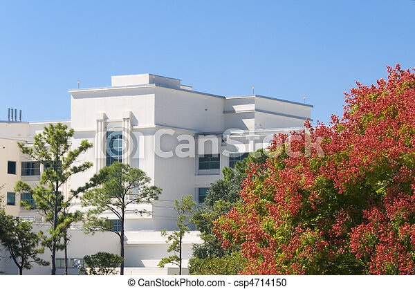 Hospital in the fall - csp4714150