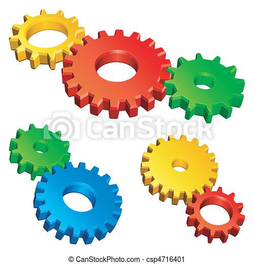 Color gears. - csp4716401