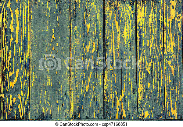 Coloured rostrum made of wooden planks - csp47168851