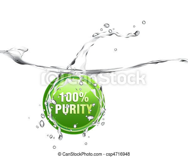 Fresh and pure water with splashing, waves and bubbles - csp4716948
