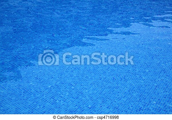 pool blue tiles pattern texture water reflection - csp4716998