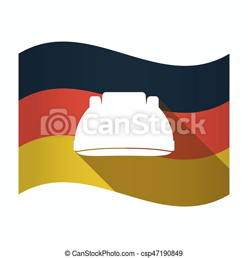 Isolated Germany flag with a work helmet - csp47190849