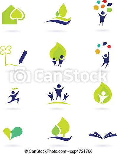 Nature, school and education icons - csp4721768
