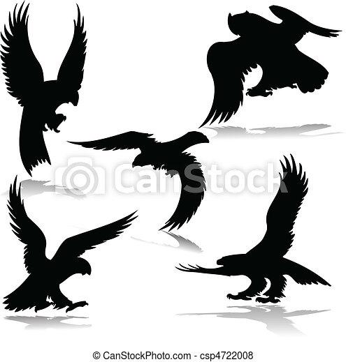 águilas,  vector, Ilustración - csp4722008