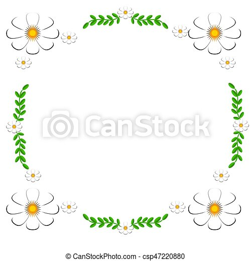White daisies - csp47220880