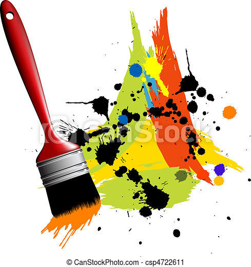 Abstract color spot's background - csp4722611