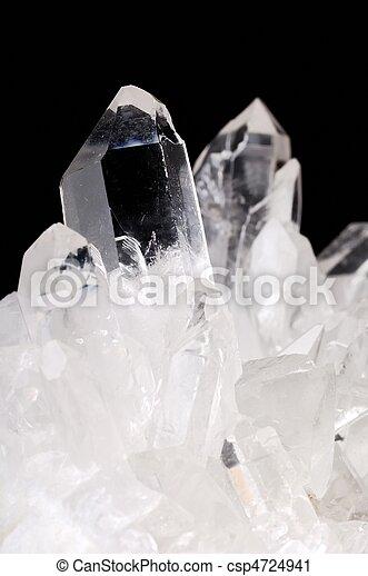 Quartz crystals on black - csp4724941