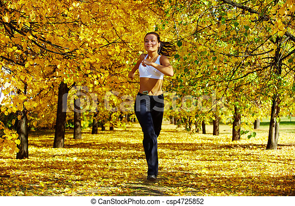 Autumn fitness - csp4725852