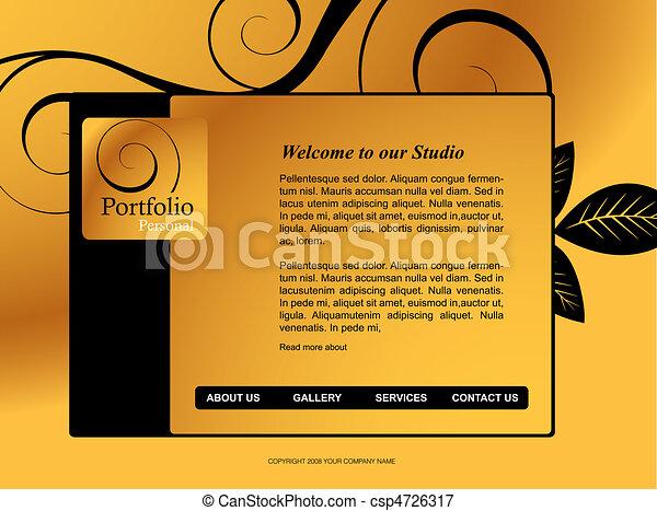 Website Template - csp4726317