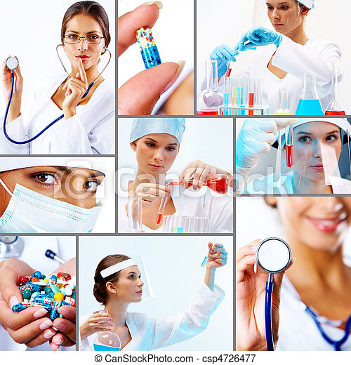 Collage of medicine - csp4726477