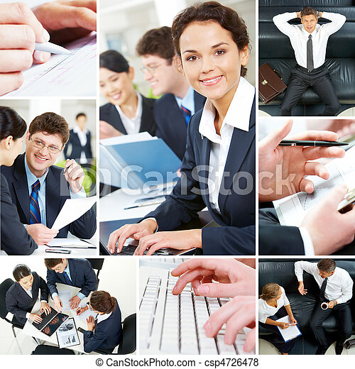 Set of business people - csp4726478