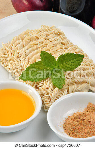 home made noodle and some flavour powder - csp4726607