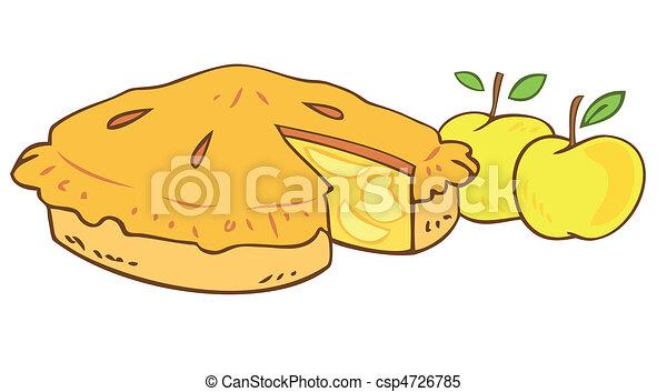 Vecteur clipart de grandmother s pomme tarte csp4726785 - Dessin tarte aux pommes ...