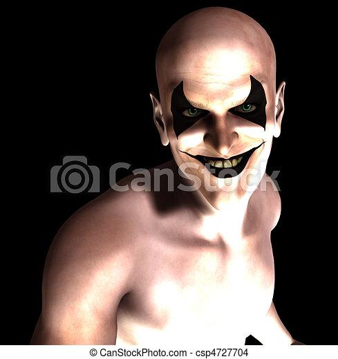 Mal, sorrindo, Palhaço - csp4727704