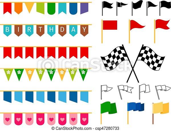 vektoren von girlanden, fahne, karte, einladung - vector, fahne, Einladungen