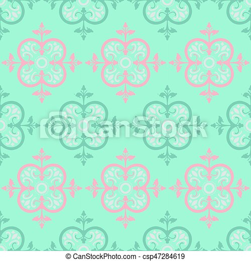 Vector Colorful Decorative Seamless Pattern - csp47284619