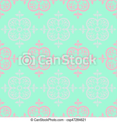 Vector Colorful Decorative Seamless Pattern - csp47284621