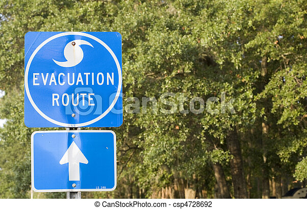 Hurricane Evacuation Route - csp4728692