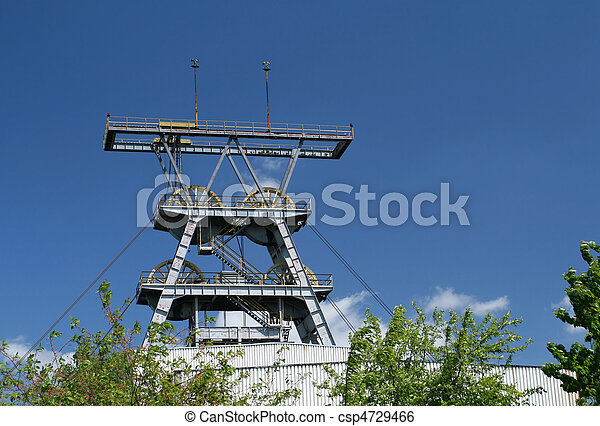Coal mine shaft - csp4729466