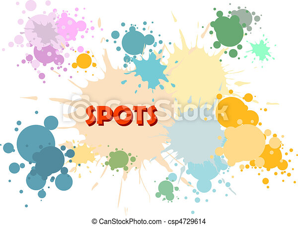 Vector color spots background - csp4729614