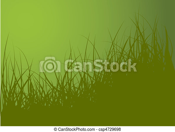 Green vector grass background - csp4729698