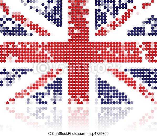 Grunge flag of United Kingdom - csp4729700