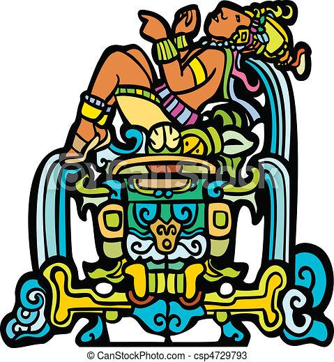 Reclining Mayan - csp4729793