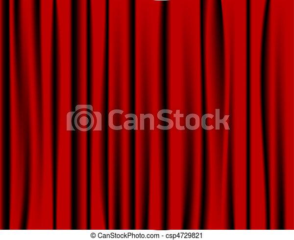 Red curtain - csp4729821