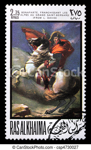 Postage stamp with Napoleon - csp4730027