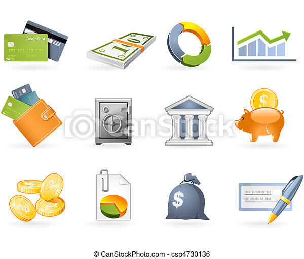 Banking and Finance icon set - csp4730136