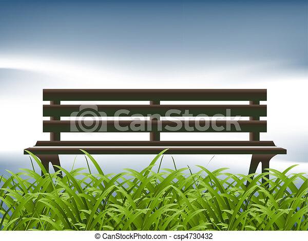 illustration vecteur de bois vert herbe vieux banc vert herbe et vieux csp4730432. Black Bedroom Furniture Sets. Home Design Ideas