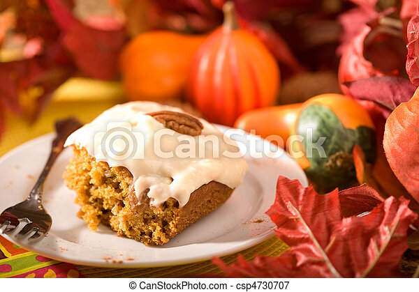 Pumpkin Cake with Frosting - csp4730707