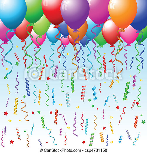 Party background with balloons - csp4731158