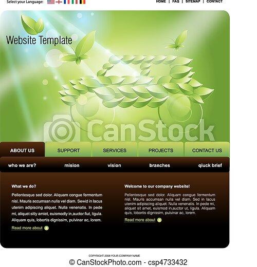 Website Template - csp4733432