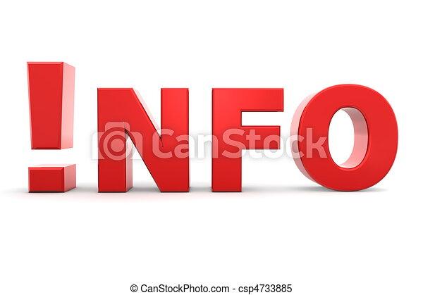 illustrations de information attention rouges