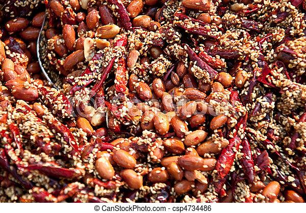 chillie peanuts - csp4734486