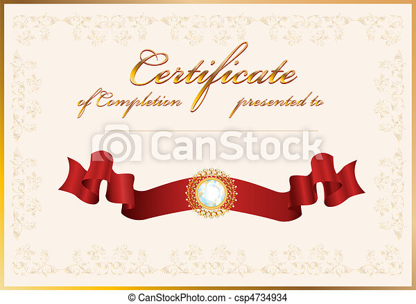 certificate of completion.Template. - csp4734934