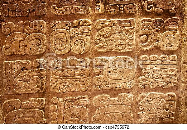 Mayan hieroglyphs - csp4735972