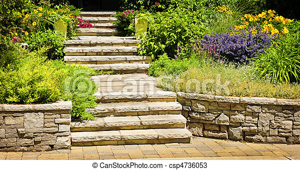 Natural stone landscaping - csp4736053