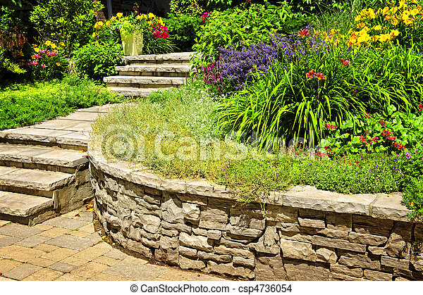 Natural stone landscaping - csp4736054