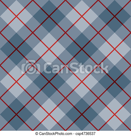 Bias Plaid in Blue with Red Stripe - csp4736537