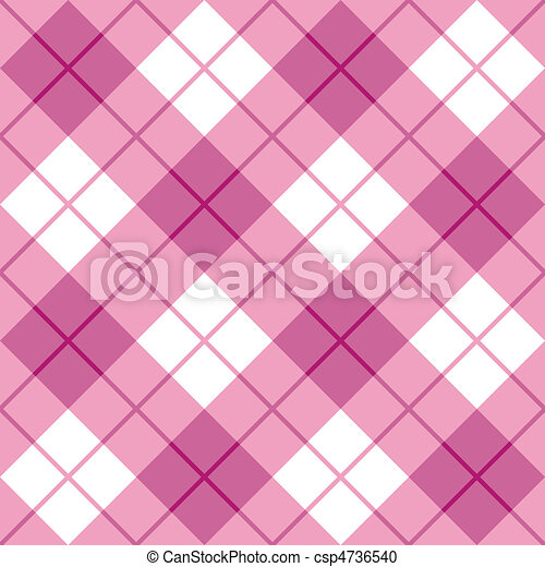 Bias Plaid in Pink - csp4736540